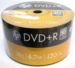DVD+R HP (Hewlett Pacard) 120min./4.7Gb. 16X  - 50 бр. в целофан
