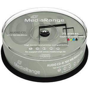 CD-R MediaRange Digital Audio (Printable) 80min./700mb 40X - 25 броя в шпиндел