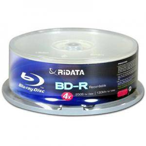 Дискове Ritek Blu ray BD-R 4x 50GB 10 disc, шпиндел